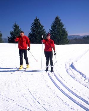 Cross-country skiing at Cranwell